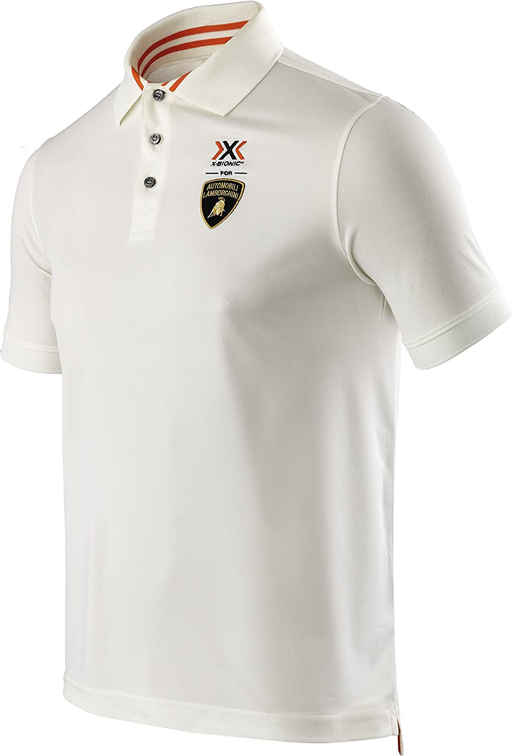 X-Bionic Herren Polo Shirt for AUTOMOBILI LAMBORGHINI TECH STYLE PRO MAN STRIPES FLAG OW SHORT SLEEVE
