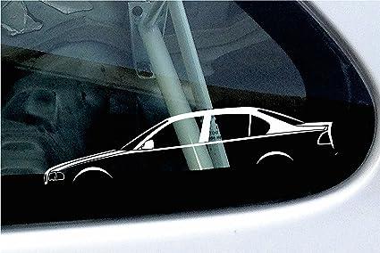 2 pegatinas de silueta de coche basadas en la Serie 3 del BMW E46 de cuatro