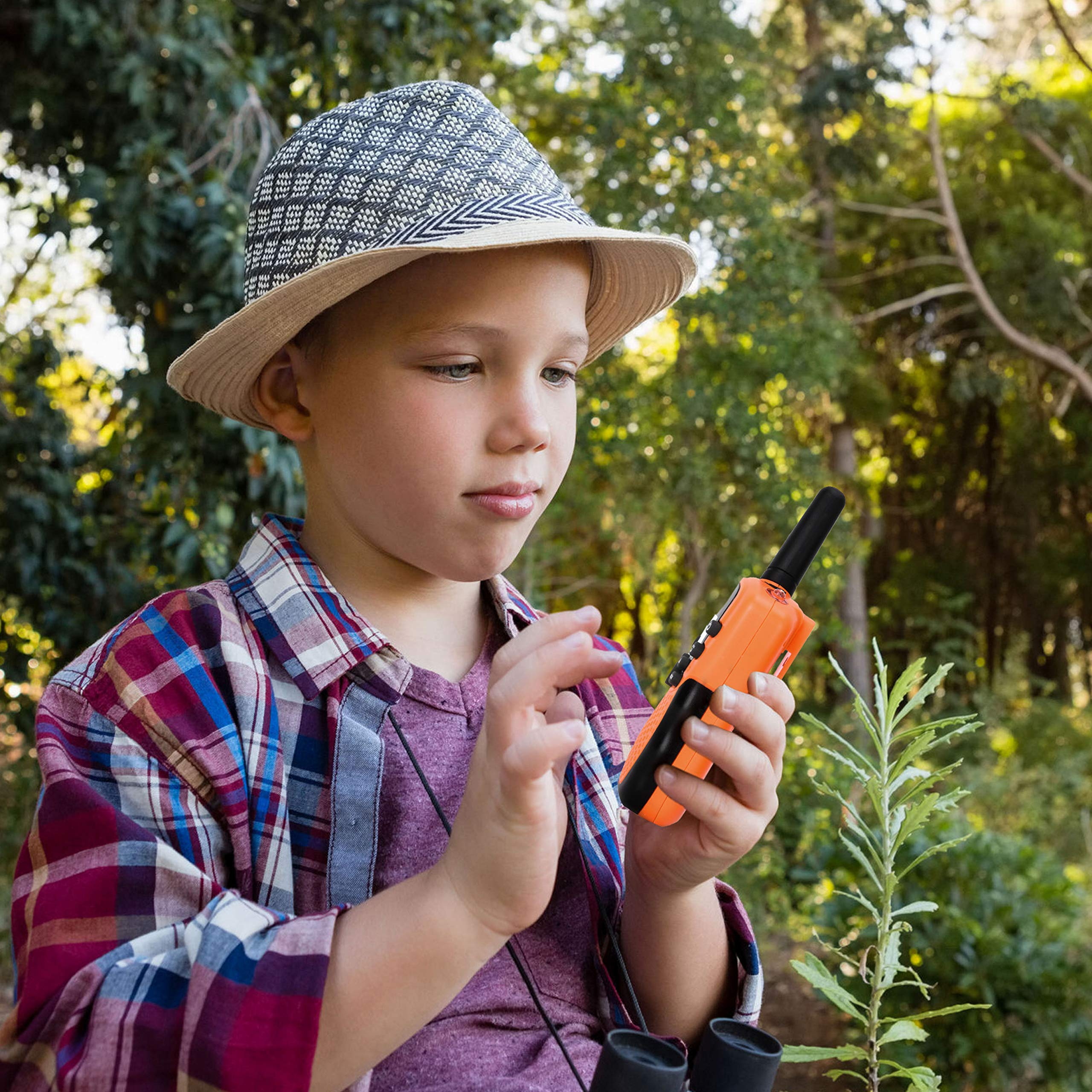 Walkie Talkies for Kids - (Vox Box) Voice Activated Walkie Talkies Toy for Kids, Two Way Radios Pair for Boys & Girls, Limited Edition Color Best Gift Long Range 3+ Miles Children's Walkie Talkie Set by MOBIUS Toys (Image #4)