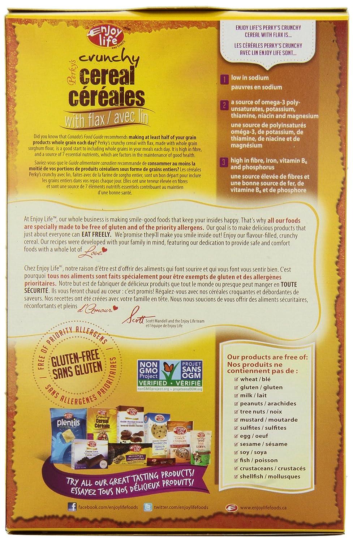 Amazon.com: Enjoy Life, Perky's Crunchy Flax Cereal, Gluten, Dairy ...