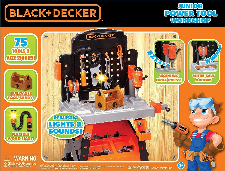 amazon com black decker junior power workbench workshop with