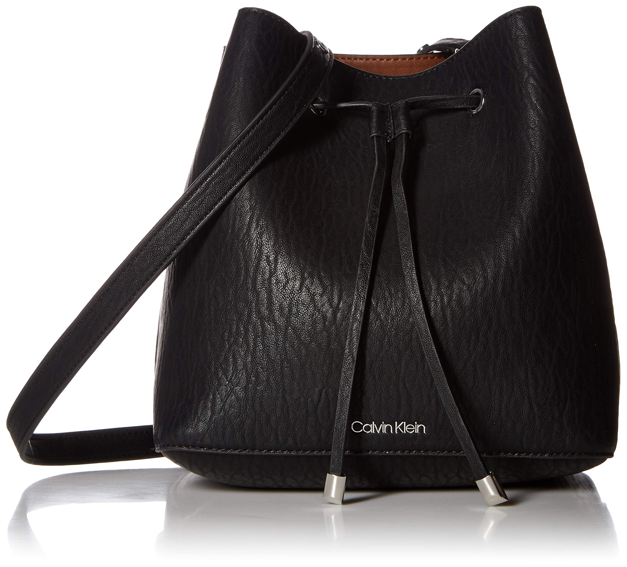 Calvin Klein Sonoma Bubble Lamb Novelty Drawstring Hobo, black/silver