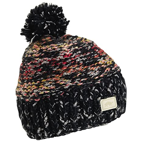 2fcd2984db2 Turtle Fur Firefly Women s Relaxed Fit Variegated Hand Knit Pom Winter Hat  Black