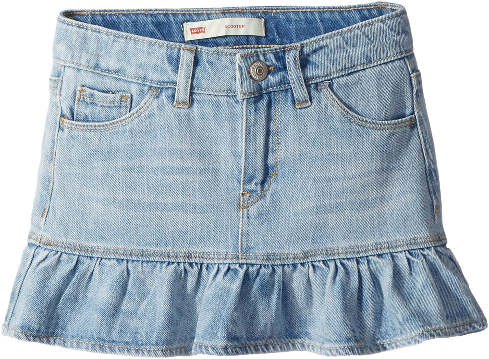 Levi's Kids Girl's Alessandra Scooter Skirt (Little Kids) Bleach Out 6X