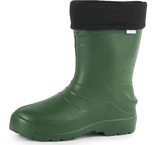 Ladeheid Botas de Agua Forradas Ligeras EVA Termo Zapatos de Seguridad Hombre PA18003 (Oliva,