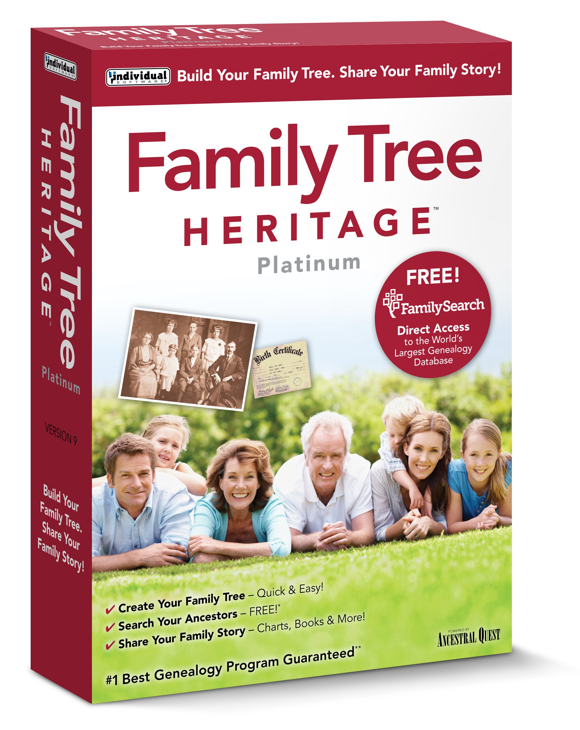 Individual Software Family Tree Heritage Platinum 9 by Individual Software