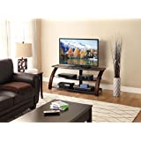 Whalen Furniture Malibu 3-in-1 Entertainment TV Stand for Flat Screen, 54-Inch