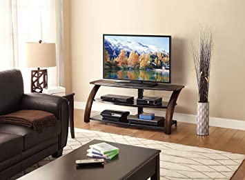 Amazon Com Whalen Furniture Malibu 3 In 1 Entertainment Tv Stand