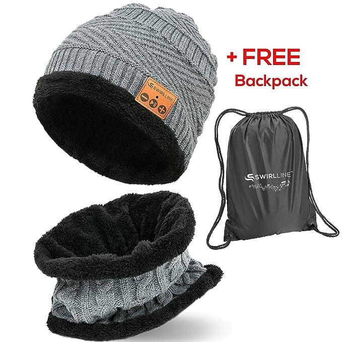 f8a7578374056 Amazon.com  Wireless Beanie - Wireless Headphones Hat and Scarf Set ...