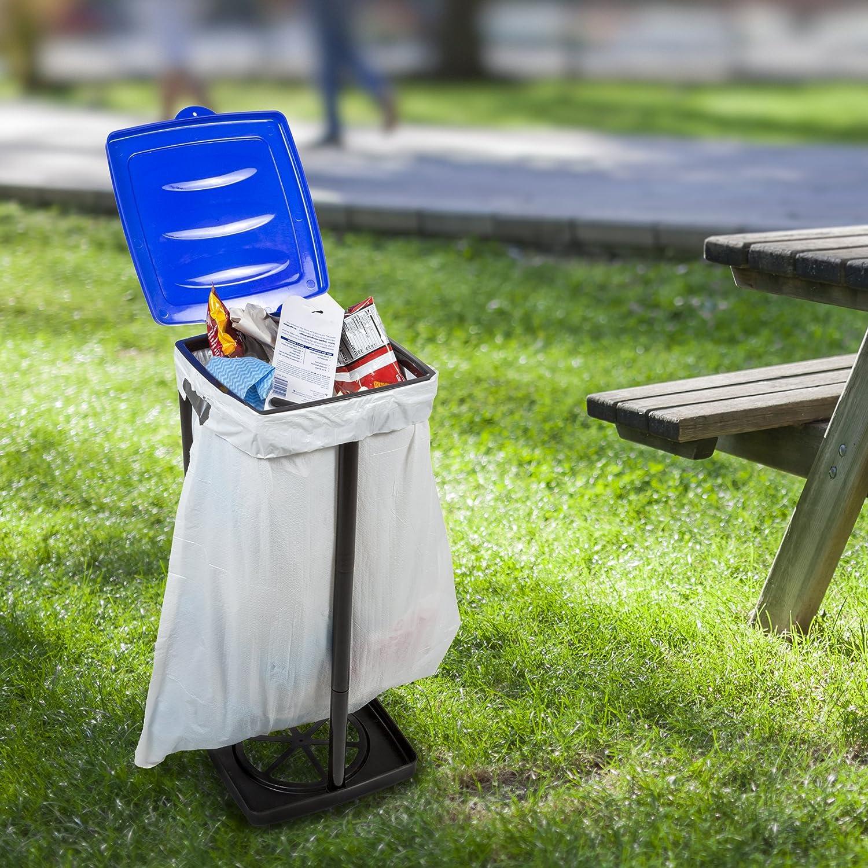 portable trash bag holder collapsible indoor outdoor camping garbage trashcan ebay. Black Bedroom Furniture Sets. Home Design Ideas