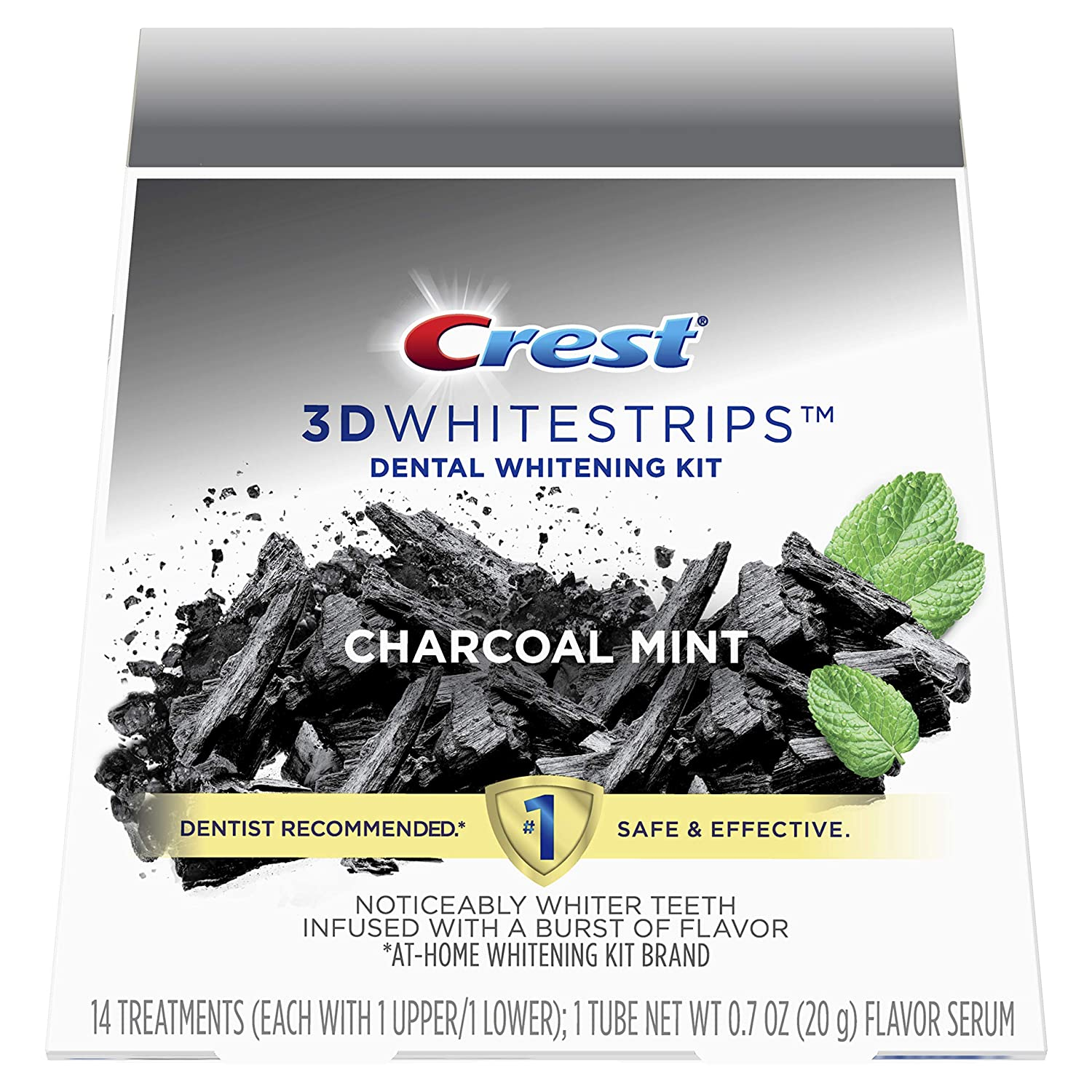 Amazon Com Crest 3d Whitestrips Charcoal Mint Teeth Whitening