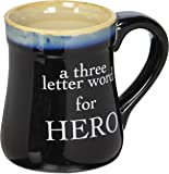"""Porcelain Dad Coffee Mug - Navy - """"A Three Letter Word For Hero"""""""
