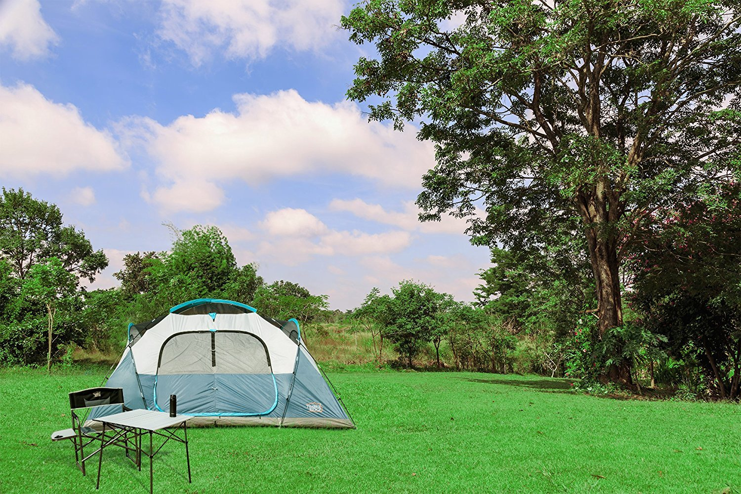 Timber Ridge Large Family Tent for Camping with Carry Bag, 2 Rooms by Timber Ridge (Image #7)