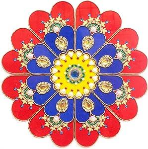 9 Piece Floor/Wall/Table Decor Accents - Acrylic Handmade Mandala Rangoli Home Decorations