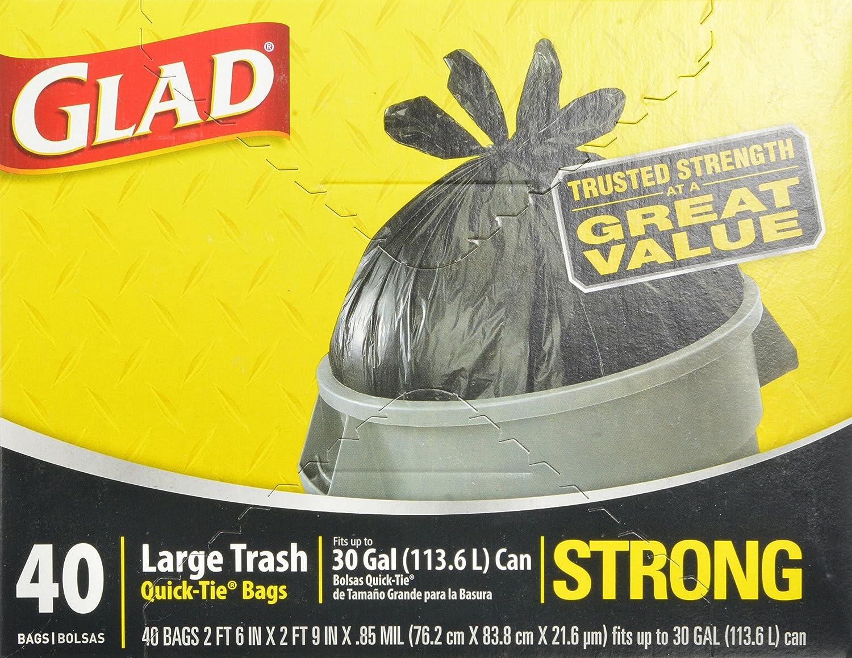 Amazon.com: Bolsas para la basura grandes Glad de atado ...