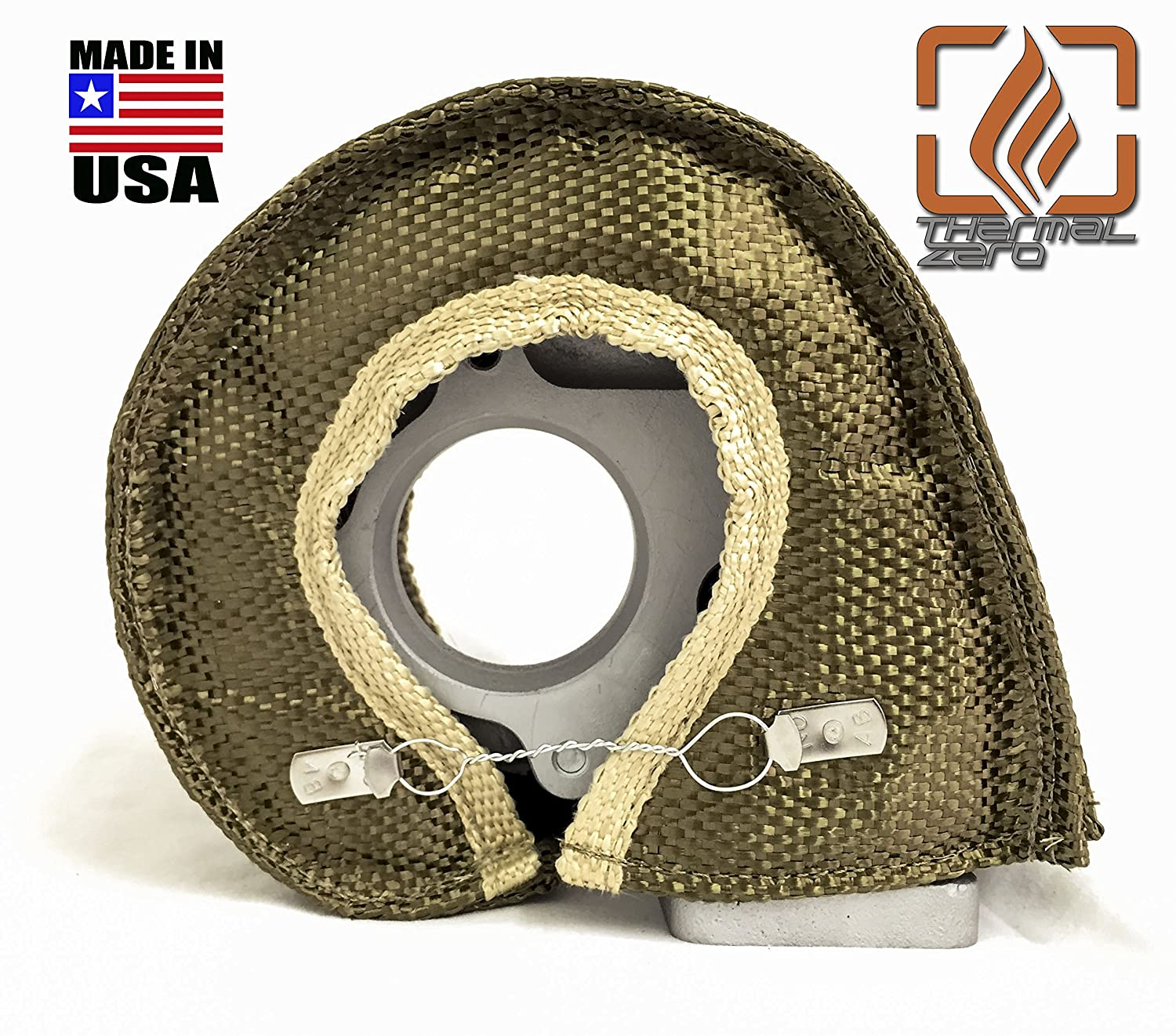 Precision MADE IN USA unlike the rest Thermal Zero Small LAVA TITANIUM T3 Turbo Blanket Holds 2400 degrees Turbonetics etc. Fits most T3 turbochargers and some small T4 turbos including Garrett