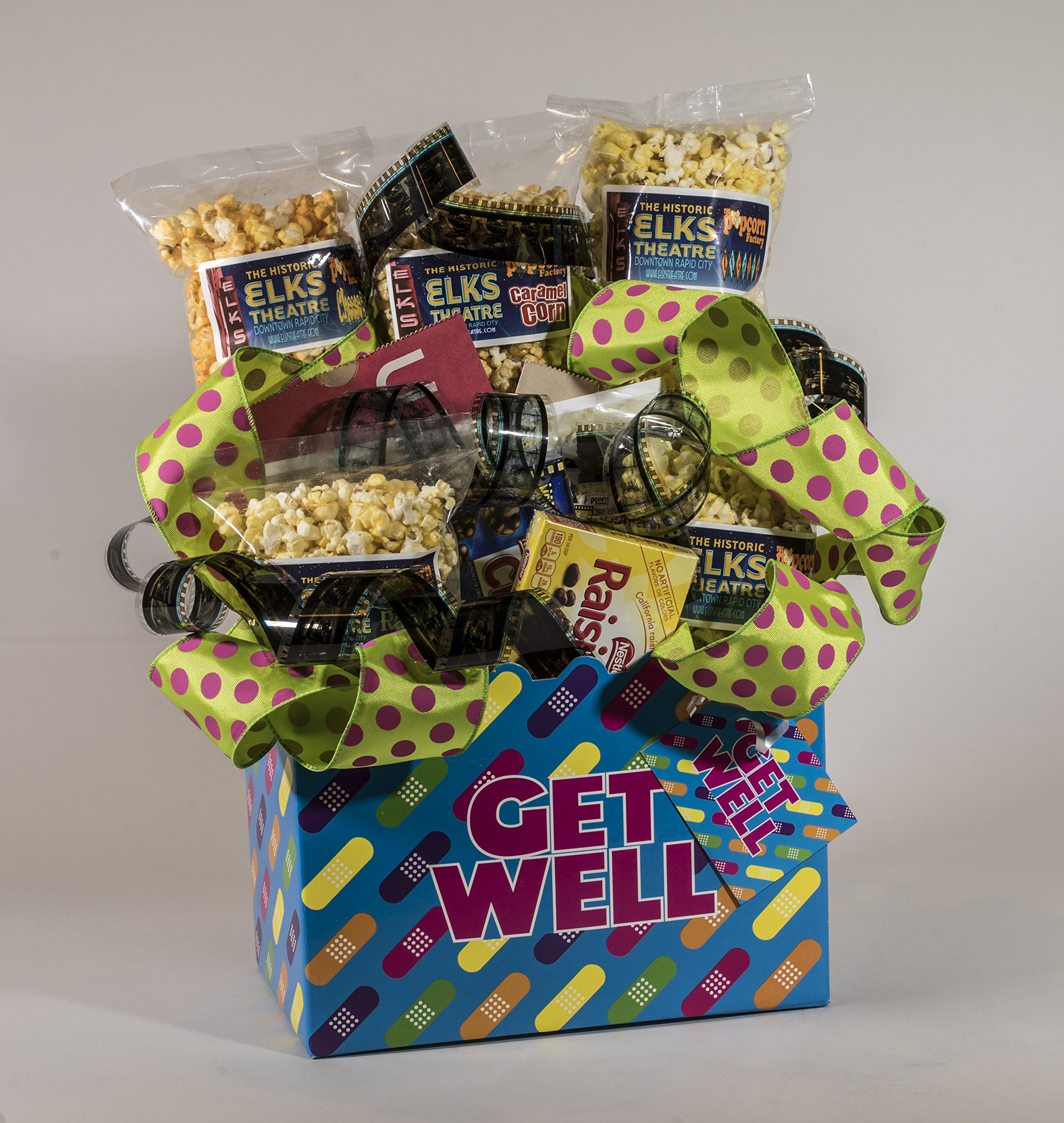Get Well Gourmet and Theater Popcorn Gift Basket