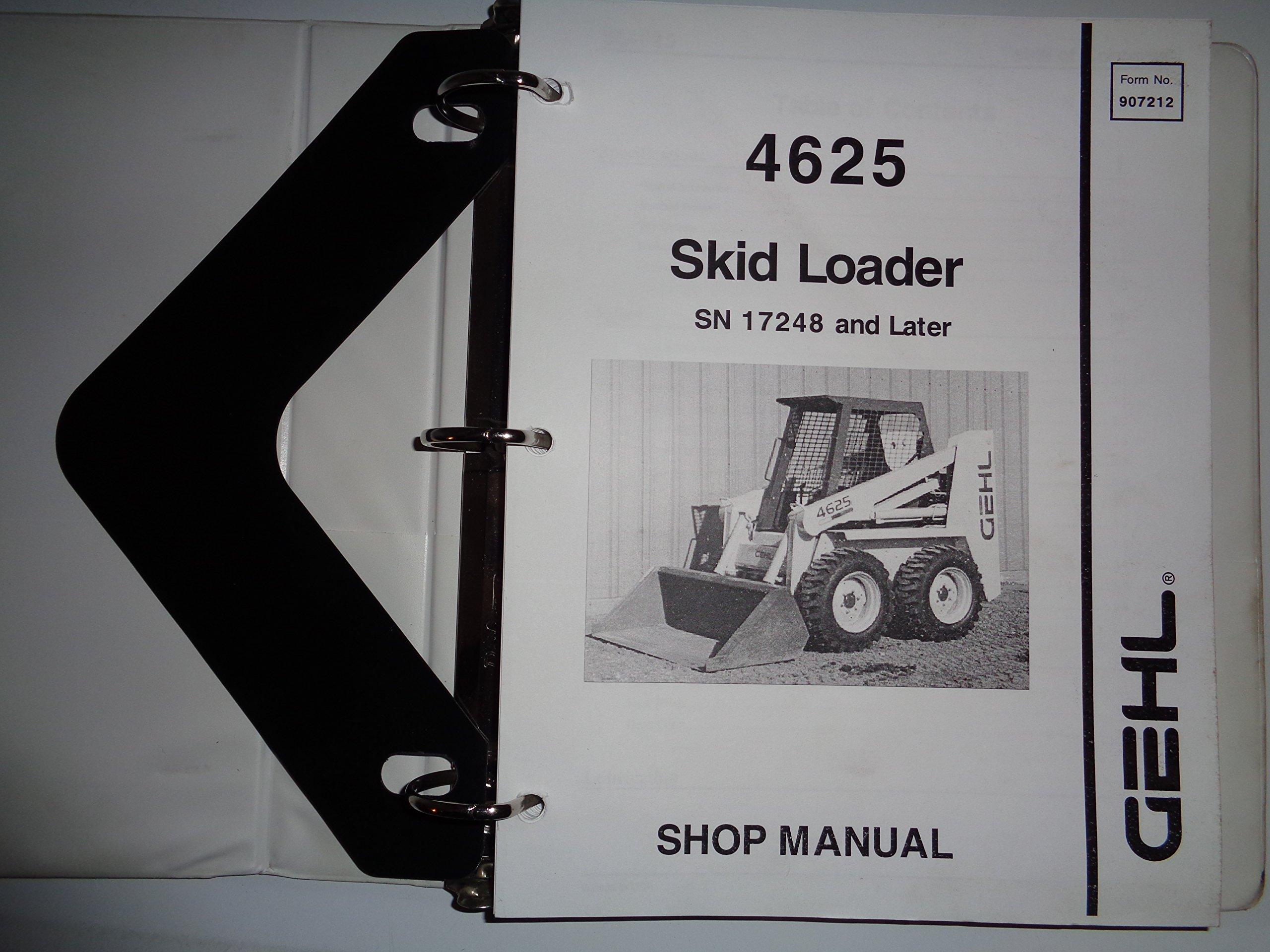 Gehl SL4625 4625 Skid Steer Loader Service Shop Repair Manual 8/95