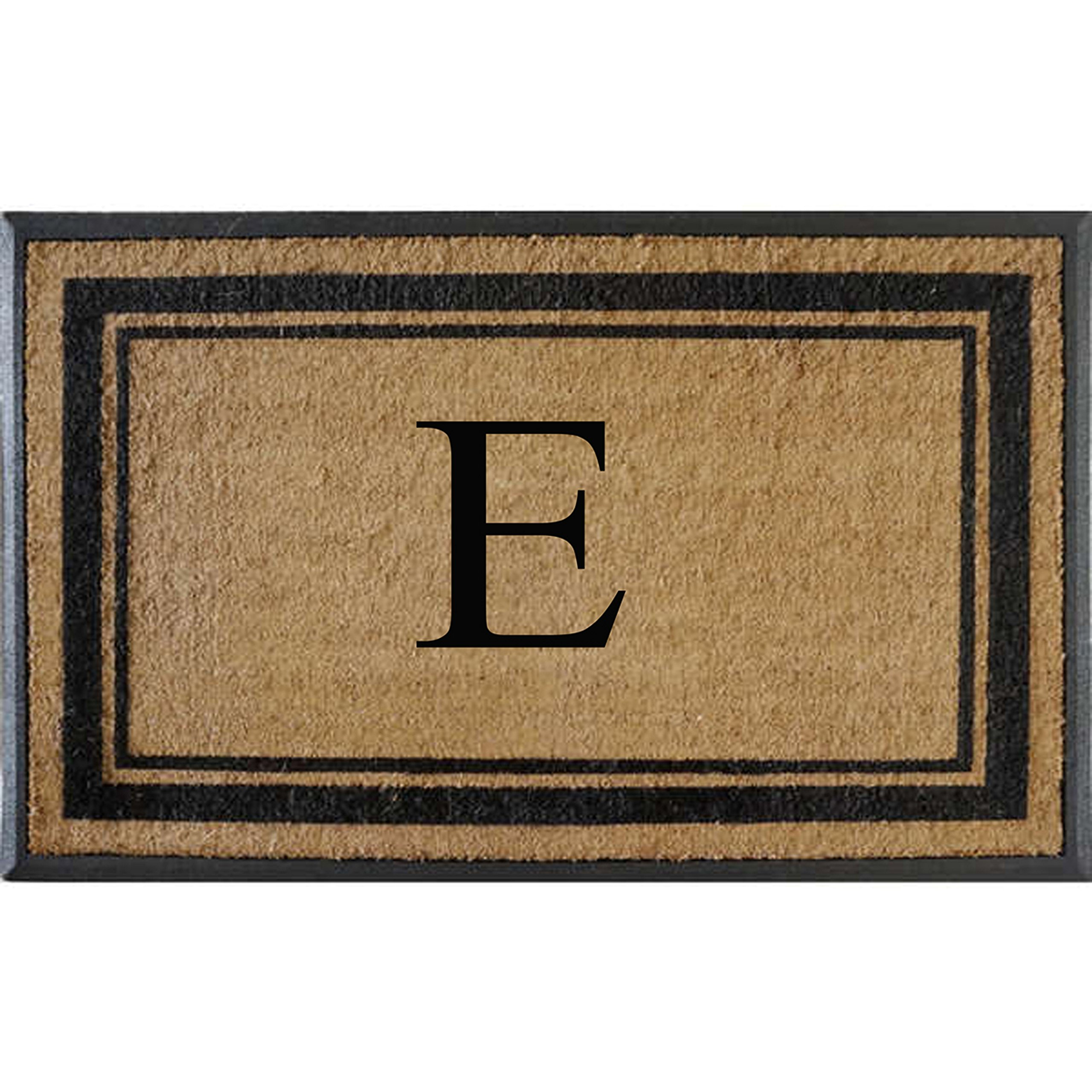First Impressions Markham Border Double Door, Doormat, Monogrammed E, X-Large
