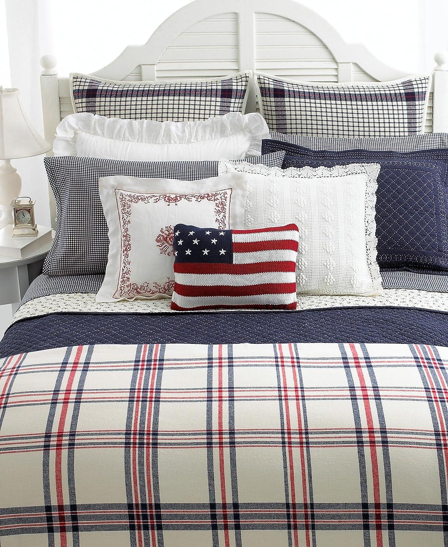 Ralph lauren plaid bedding - Amazon Com Lauren By Ralph Lauren Bedding Talmadge Hill Wool Dish Towel Plaid Euro Sham Home Kitchen