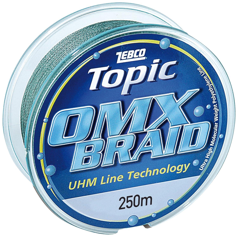 Mehrfarbig Zebco Angelschnur 0.28mm,250m,Topic OMX 2659128
