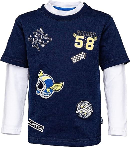 GULLIVER - Camiseta de manga larga para niño (98-128 cm), color azul y blanco azul marino 98 cm: Amazon.es: Ropa y accesorios