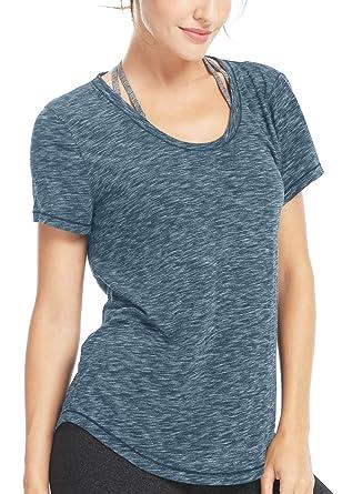 Damen Yoga Sweat Times Kurzarm T-Shirt Lose Sport T-Shirt Top  Amazon.de   Bekleidung ec505f4930