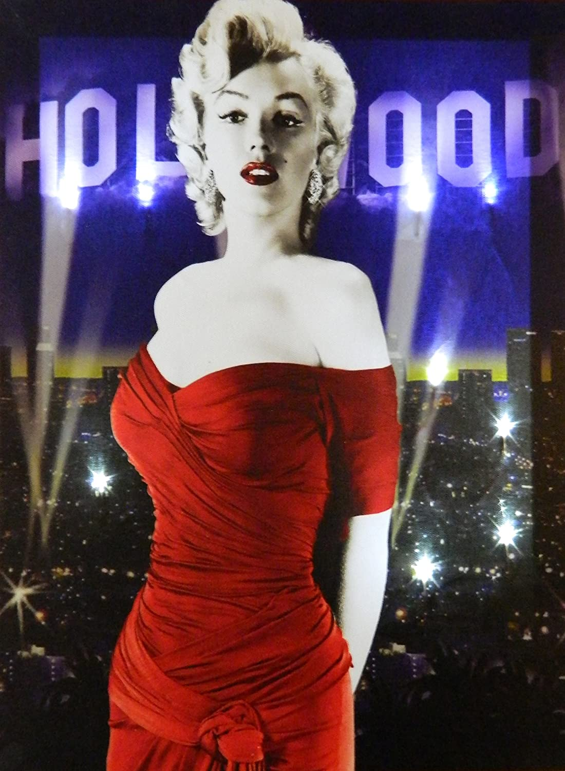Midsouth Products Marilyn Canvas with LED Lights - Hollywood
