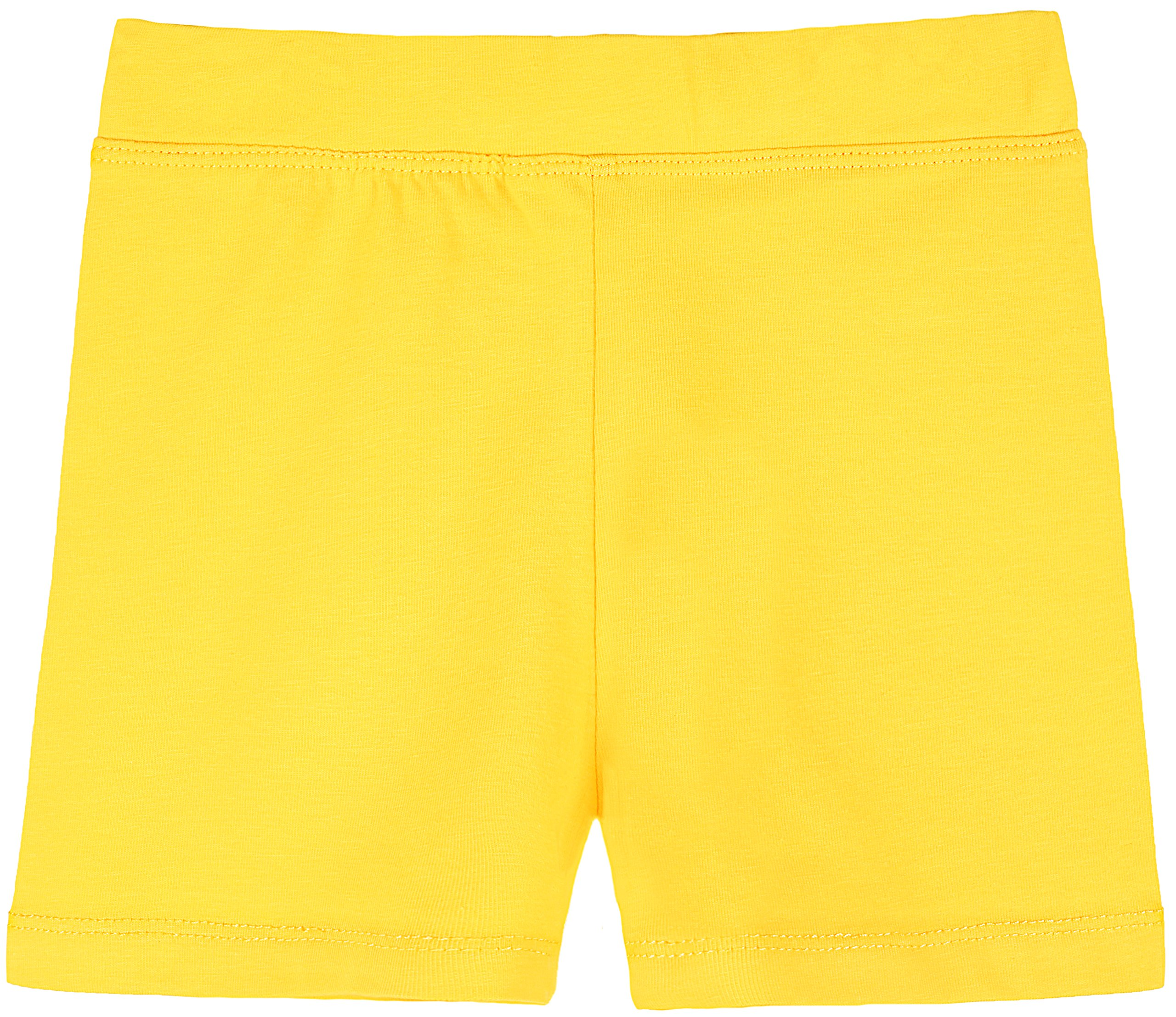 Lovetti Girls' Basic Solid Soft Dance Short for Gymnastics Or Under Skirts 4T Yellow