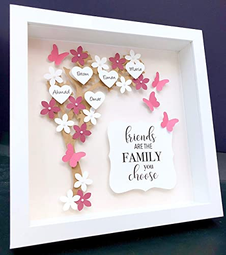 Amazon Com Personalized Family Tree Frame With Flowers Hearts And