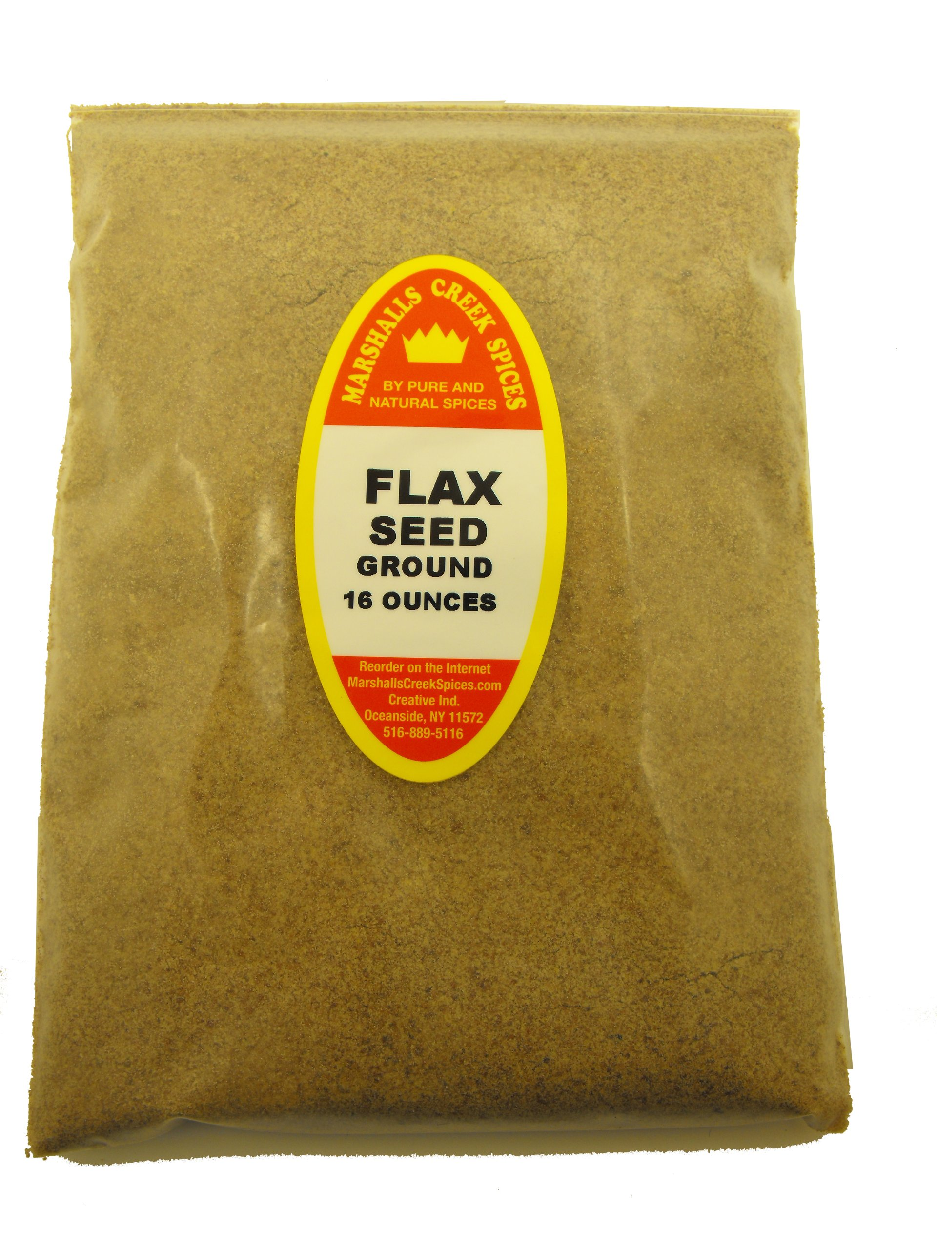 XL REFILL Marshalls Creek Spices Flax Seed Ground Seasoning, 16 Ounce