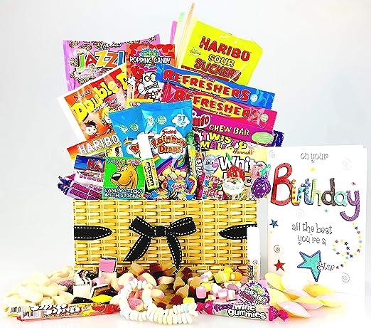 Happy SWEET - Cesta para cumpleaños con tarjeta de ...