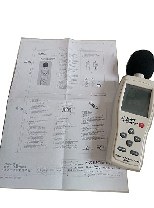 AS824 Sound Level Meter Noise Level Meter Sound Monitor dB ...