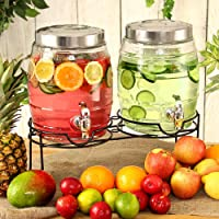Doble barril bebidas dispensador de 10ltr (con soporte