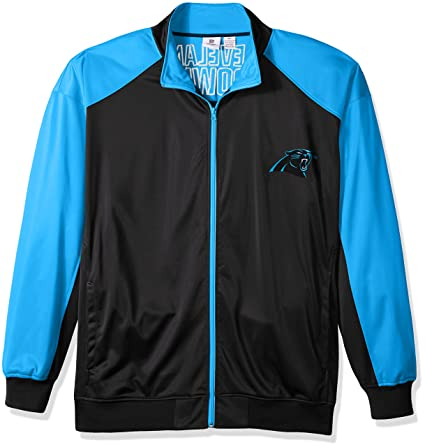 competitive price d39a1 29300 Amazon.com : NFL Mens Panthers Full Zip Tricot Track Jack ...