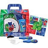 Zak! Designs Kids Mealtime Set Includes Plate, Bowl, Tumbler Cup, Fork &