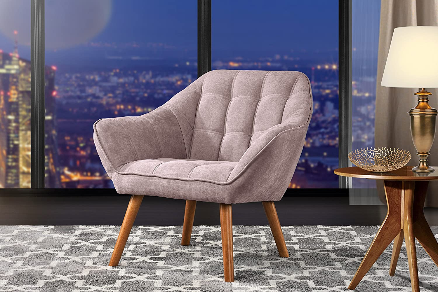 Amazon.com: Accent Chair for Living Room, Linen Arm Chair with ...