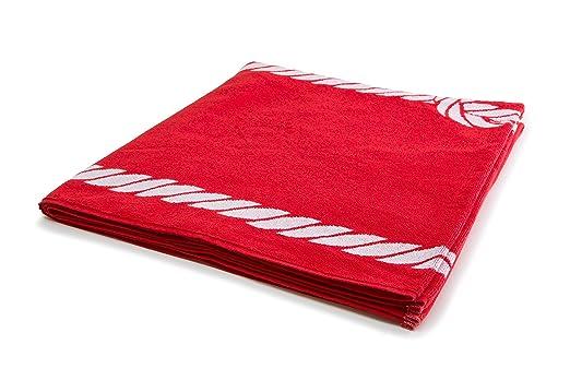 12 opinioni per ZOLLNER® XXL telo mare / asciugamano spiaggia / telo da doccia 100x200 cm, rosso