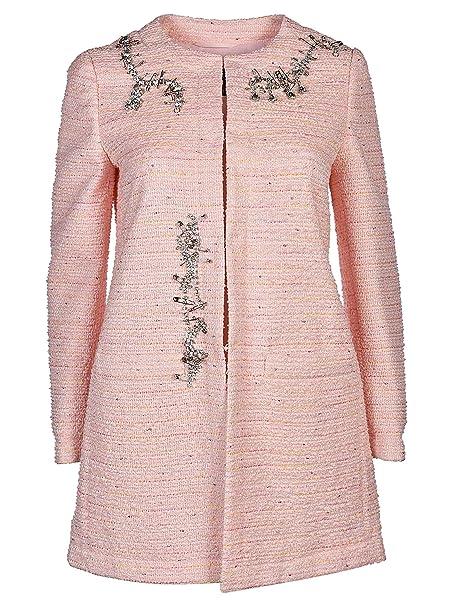 Moschino Mujer A060611161226 Rosa Algodon Chaqueta: Amazon ...
