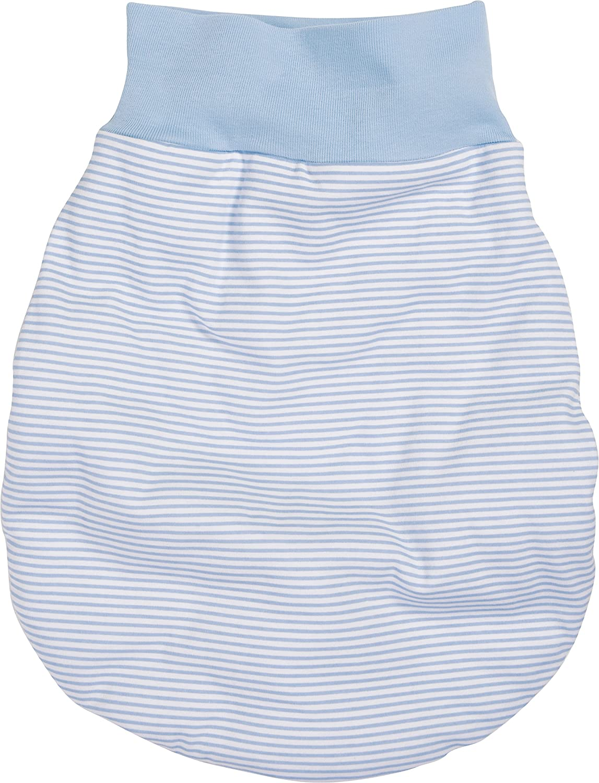 Schnizler Unisex Baby Schlafsack Strampelsack Ringel mit Elastischem Umschlagbund, Oeko Tex Standard 100 Gr. One Size Blau (weiß/bleu 117) Playshoes GmbH 800712