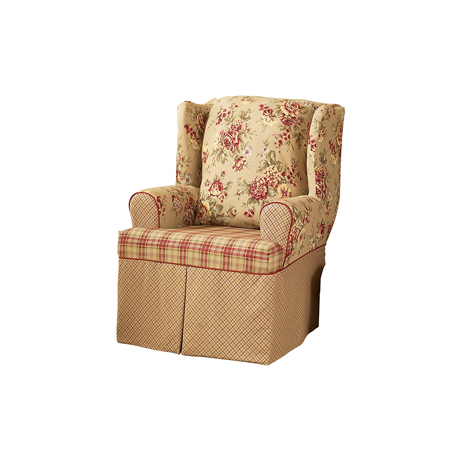 Sure Fit SF29848 Lexington Relaxed Fit 1 Piece Wing Chair Slipcover, Multi Surefit Inc.