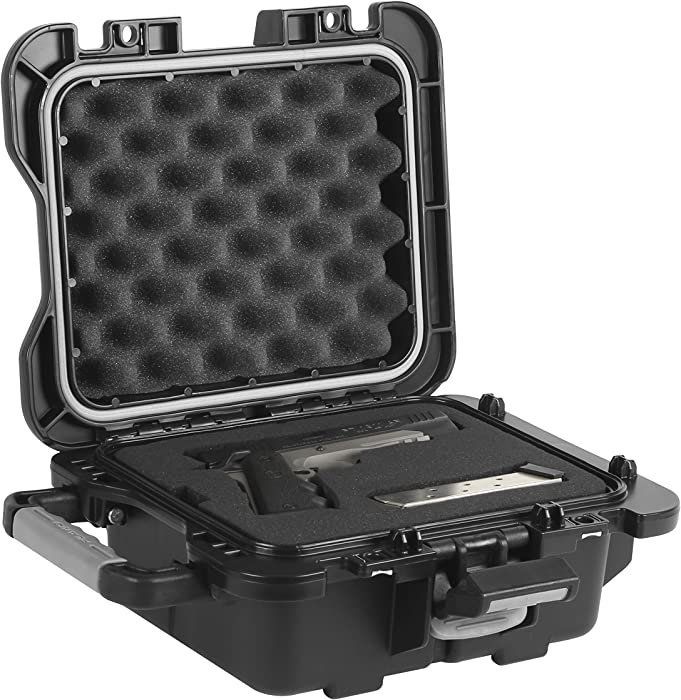 Plano Fieldlocker Medium Mil-Spec Pistol Case, Black, Medium