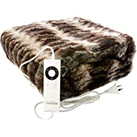 Sunbeam Throw Rug Print Faux Fur 1 pc