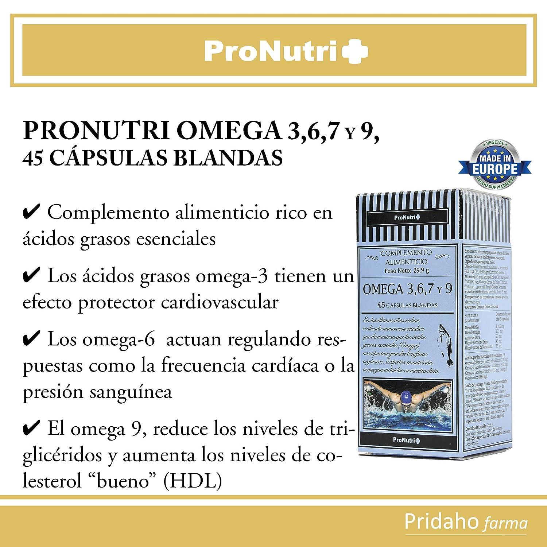 PRONUTRI - PRONUTRI Omega 3,6,7 y 9, 45 cápsulas blandas: Amazon.es: Salud y cuidado personal