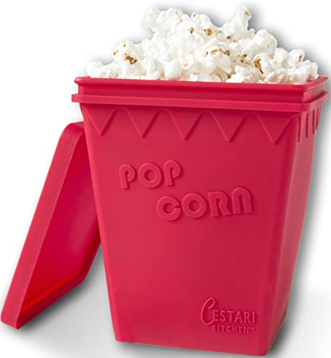 Microwave Popcorn Popper | Replaces Microwave Popcorn Bags | Enjoy Healthy  Air Popped Popcorn - No Oil Needed | BPA Free Premium European Grade