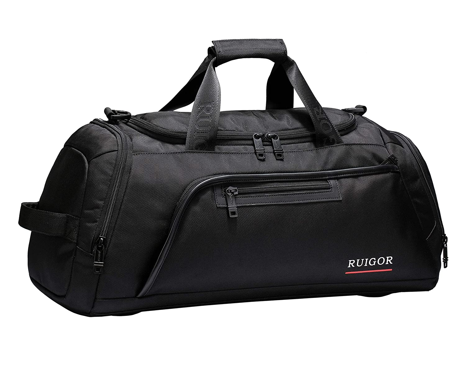 f241065490bbfb Amazon.com: Sport Gym Duffel Bag with Sweat Control Shoe Compartment, Water  Resistant, Large Sports Duffle Motion 32 Large by Swiss RUIGOR - Black: ...