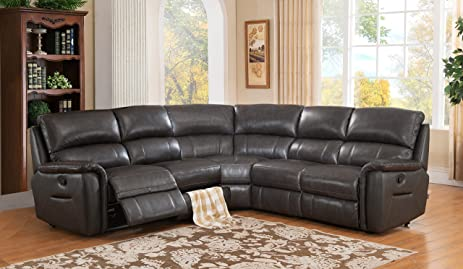 Amax Leather Camino Leather Motion Sectional Sofa Charcoal Grey : dillon motion sectional - Sectionals, Sofas & Couches