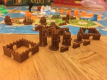 Ten Talents Trading Build3D - Piezas de Repuesto para los colonos de Las Ciudades catanas y Caballeros de expansión, Color marrón: Amazon.es: Juguetes y juegos