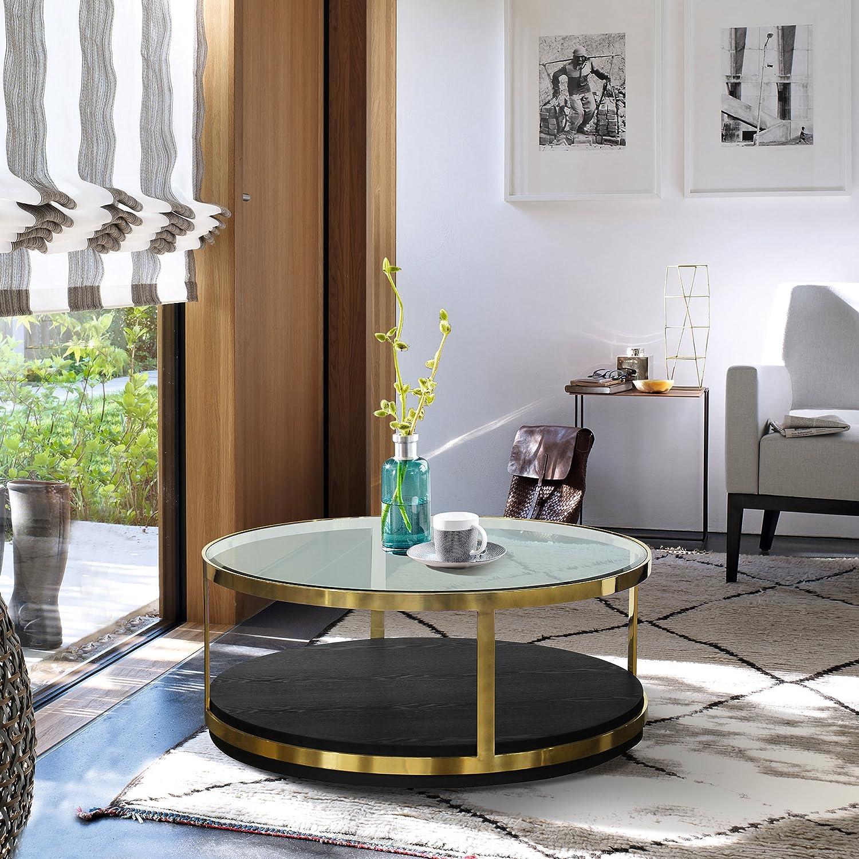 Amazon Com Armen Living Coffee Table Black Furniture Decor