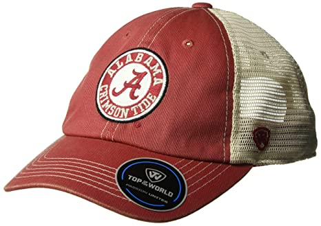 be92f71e2b4c7 Top of the World NCAA Alabama Crimson Tide Men s Vintage Mesh Adjustable  Icon Hat